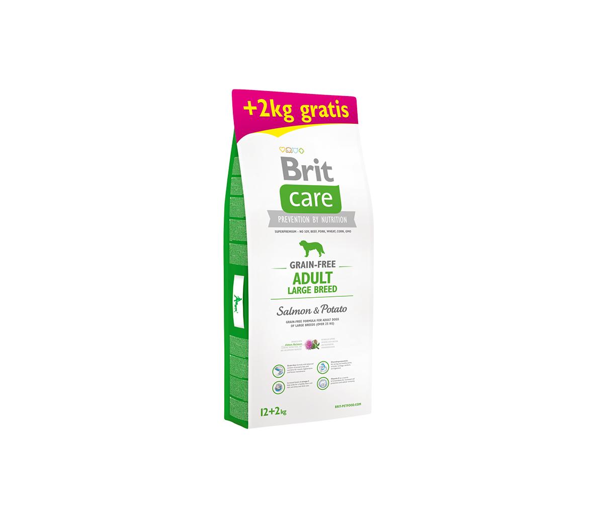 BRIT CARE Adult LB Salmon&Potato 12 kg + 2 kg