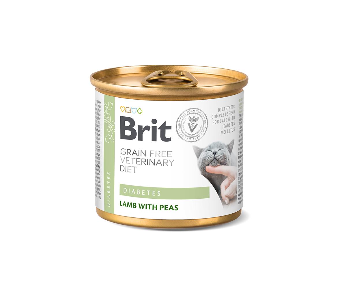Brit GF Veterinary Diets kons. katėms Diabetes 200g