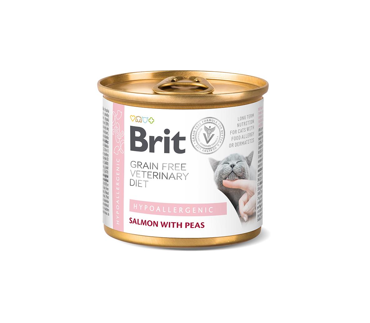 Brit GF Veterinary Diets kons. katėms Hypoallergenic 200g
