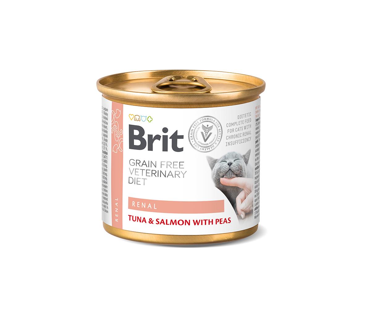 Brit GF Veterinary Diets kons. katėms Renal 200g