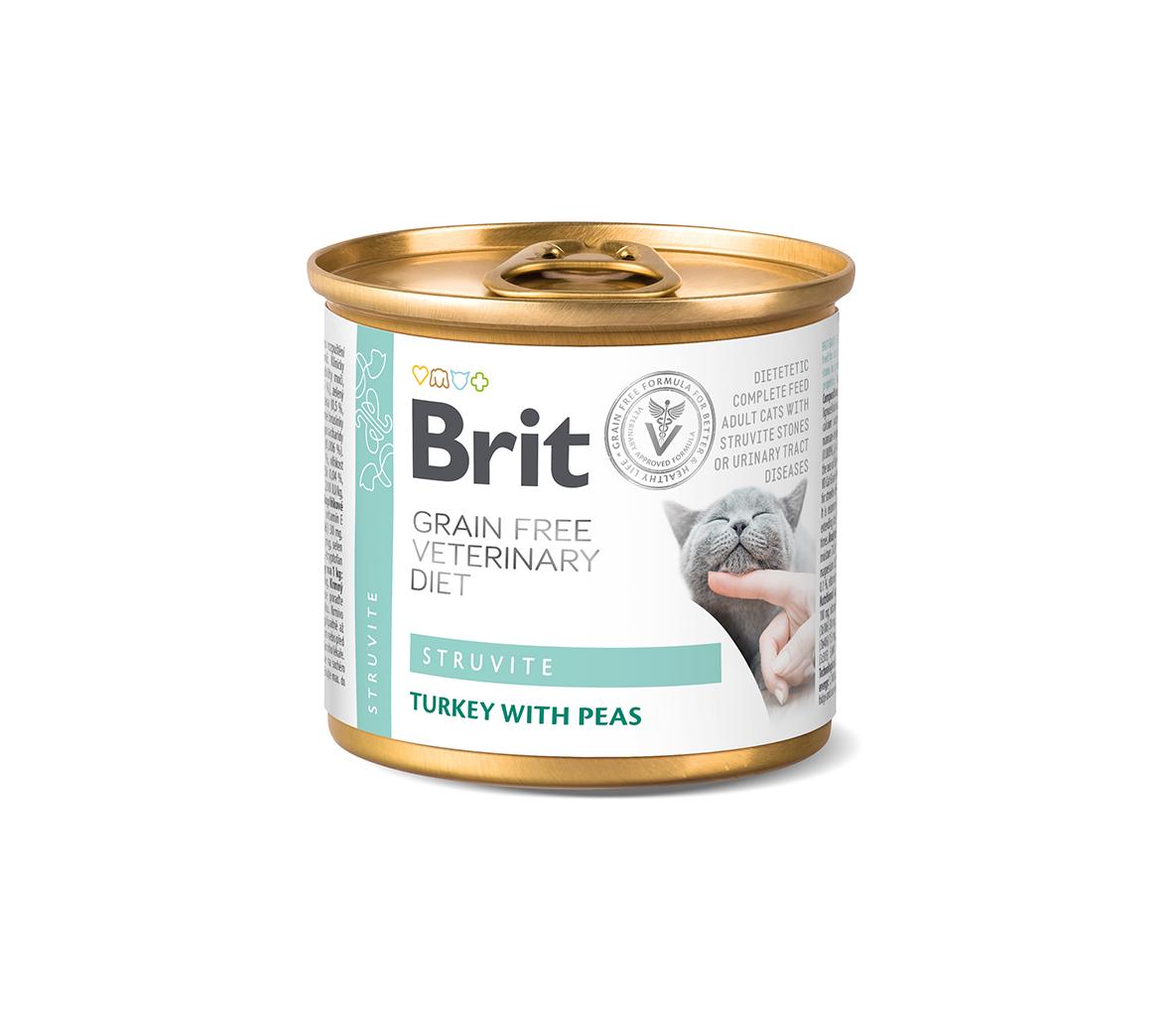 Brit GF Veterinary Diets kons. katėms Struvite 200g
