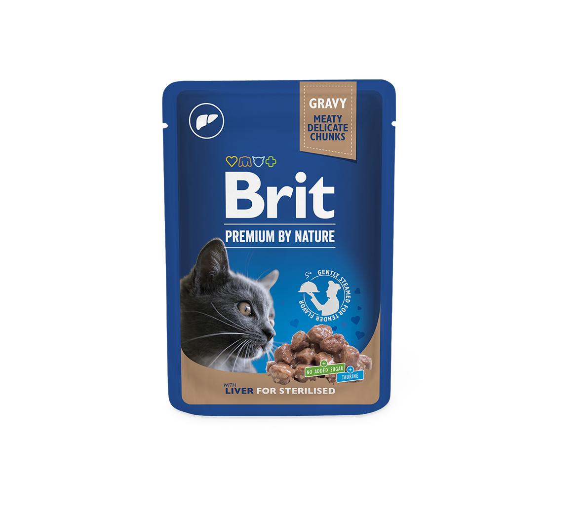 Brit Premium kons. katėms maiš. Liver for Sterilised 100g