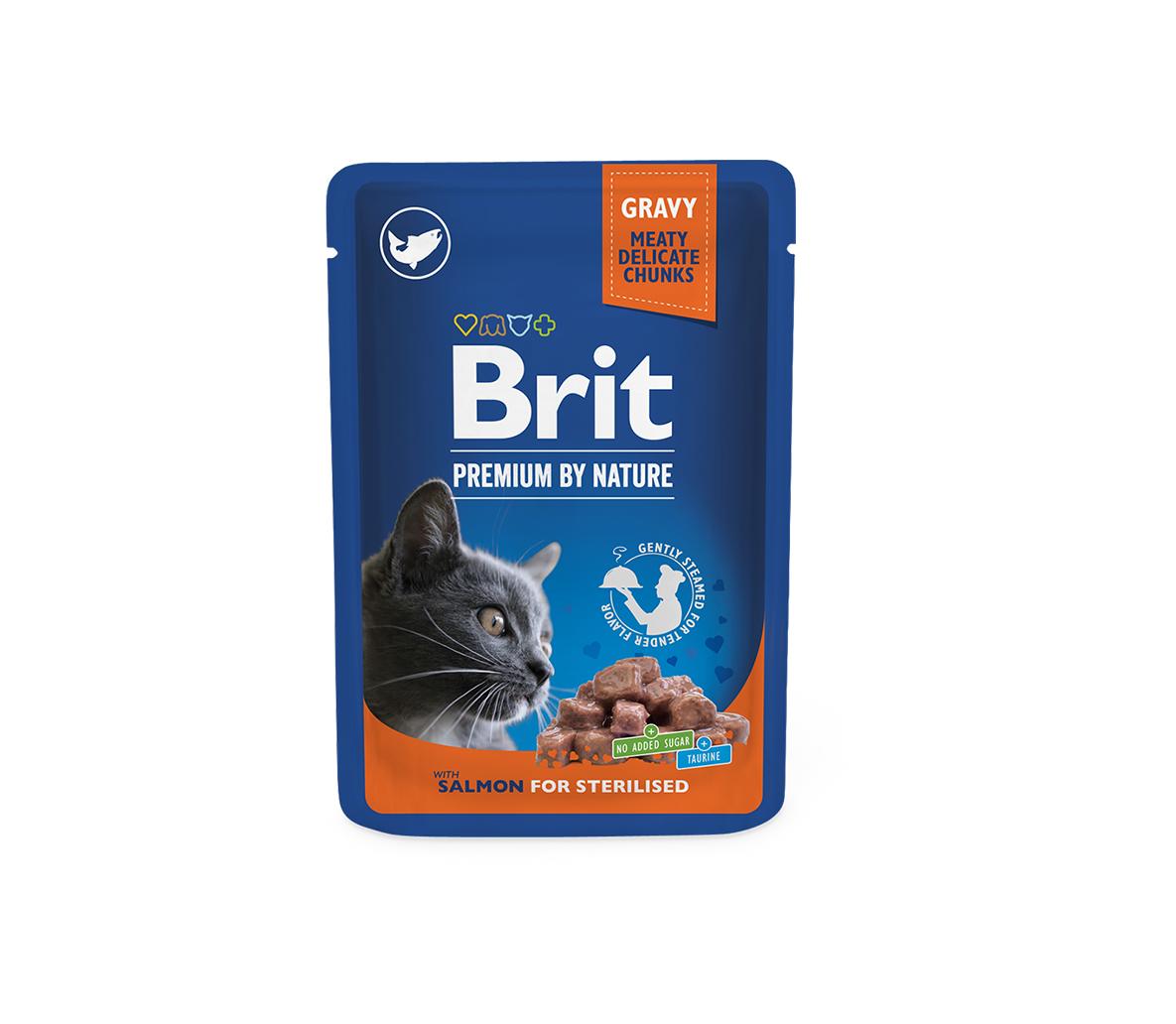 Brit Premium kons. katėms maiš. Salmon for Sterilised 100g